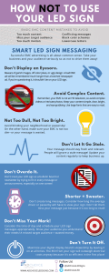 How Not To Use Your LED Sign [Infographic]